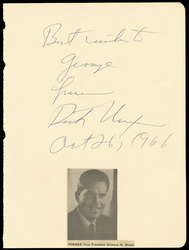 Image 1 for President Richard M. Nixon - Autograph Note Signed 10/26/1966 - HFSID 17588