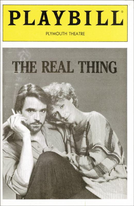 Image 3 for The Real Thing Play Cast - Show Bill Signed co-signed by: Glenn Close, Jeremy Irons, Christine Baranski - HFSID 175880