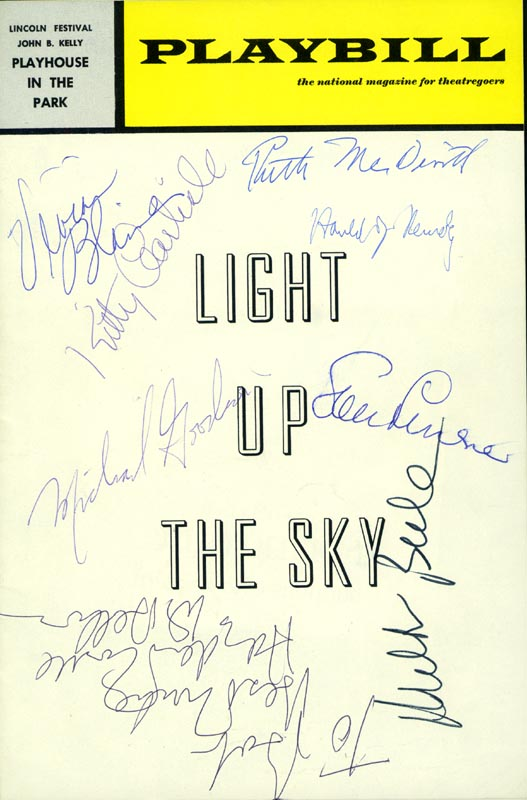 Image 1 for Light Up The Sky Play Cast - Inscribed Show Bill Signed with co-signers - HFSID 175882