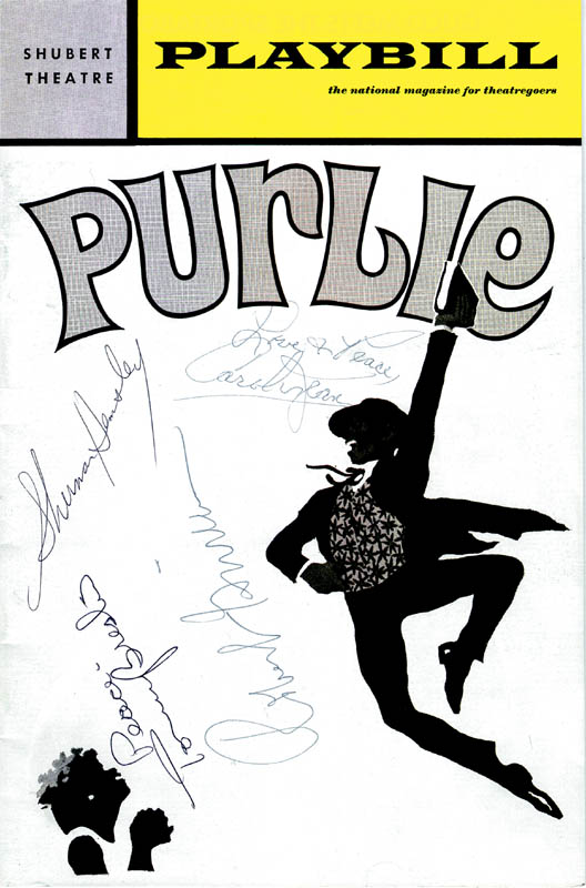 Image 1 for Purlie Broadway Cast - Show Bill Signed co-signed by: Sherman Hemsley, Carol J. Lewis, Tommy Breslin, Robert Guillaume - HFSID 175886