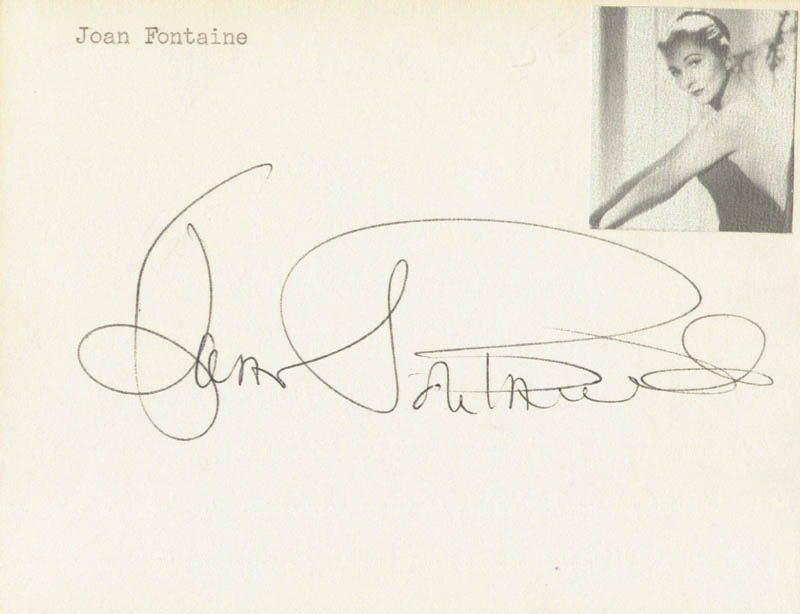 Image 1 for Joan Fontaine - Autograph - HFSID 176