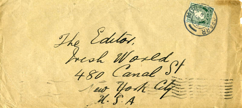 Image 1 for Sean O'Casey - Autograph Envelope Unsigned 06/13/1933 - HFSID 176043
