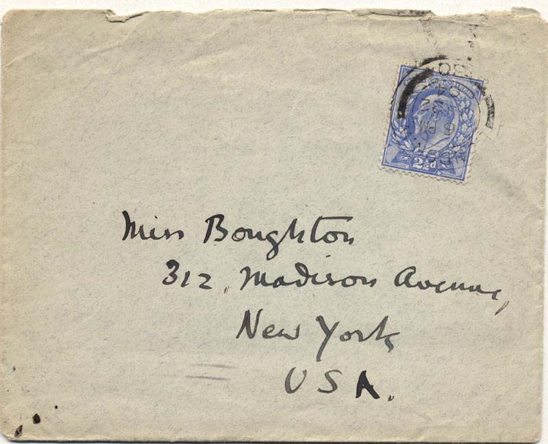 Image 1 for William Butler Yeats - Autograph Envelope Unsigned Circa 1904 - HFSID 176047