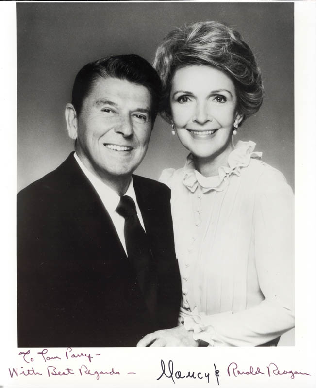 Image 1 for President Ronald Reagan - Autographed Inscribed Photograph co-signed by: First Lady Nancy Davis Reagan - HFSID 17612