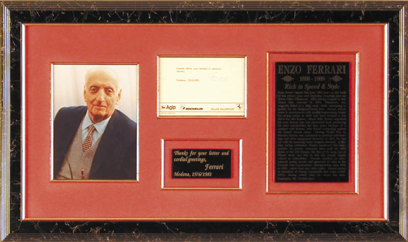 Image 1 for Enzo Ferrari - Typed Note Signed 06/14/1981 - HFSID 176139
