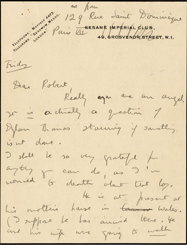 Image 4 for Dame Edith Sitwell - Autograph Letter Signed - HFSID 176155