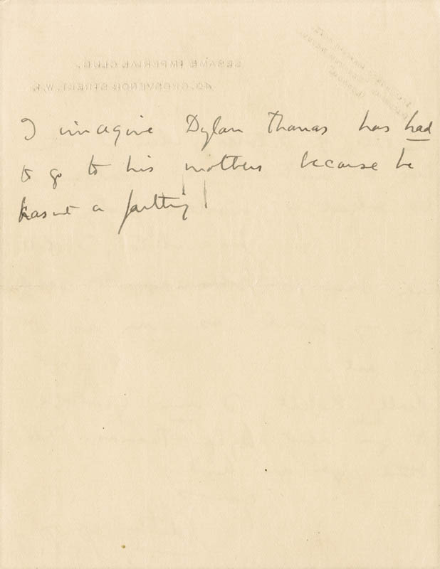 Image 5 for Dame Edith Sitwell - Autograph Letter Signed - HFSID 176155