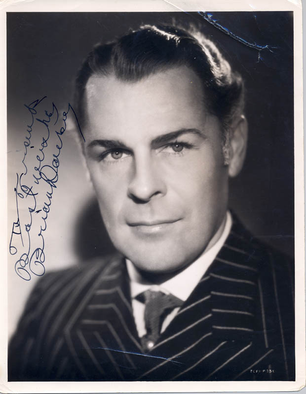 Image 1 for Brian Donlevy - Autographed Inscribed Photograph - HFSID 176186