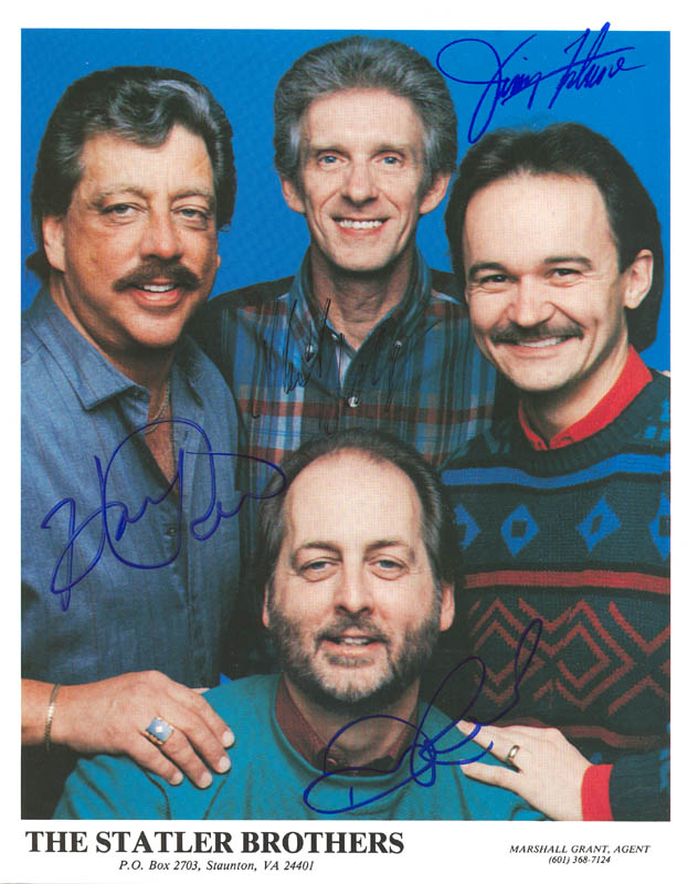 Image 1 for The Statler Brothers - Autographed Signed Photograph with co-signers - HFSID 176217