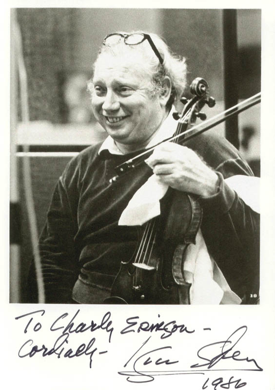 Image 1 for Isaac Stern - Autographed Inscribed Photograph 1986 - HFSID 176235