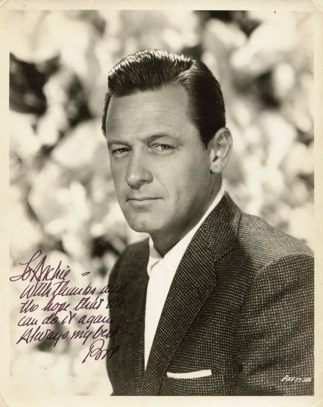 Image 1 for William Holden - Autographed Inscribed Photograph - HFSID 176259