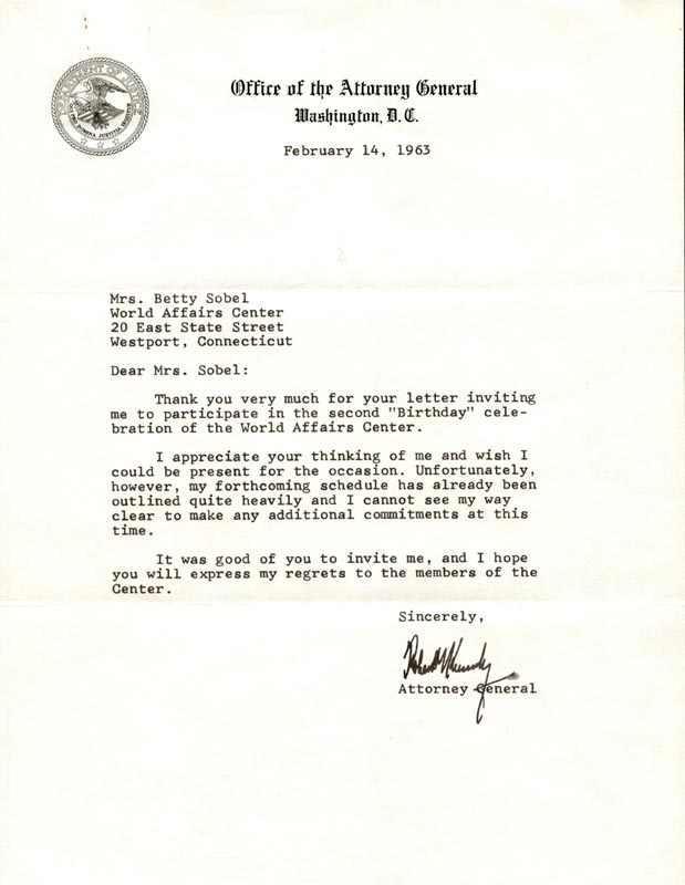 Image 1 for Robert F. Kennedy - Typed Letter Signed 02/14/1963 - HFSID 176412