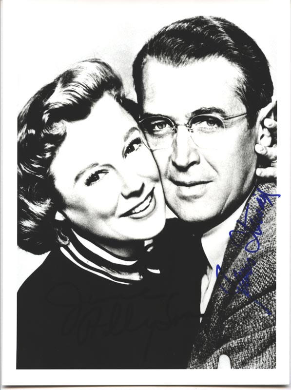 Image 1 for Glenn Miller Story Movie Cast - Autographed Signed Photograph co-signed by: James 'Jimmy' Stewart, June Allyson - HFSID 176594