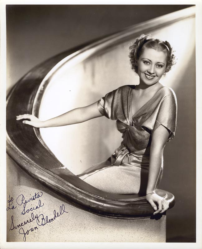 Image 1 for Joan Blondell - Autographed Inscribed Photograph - HFSID 176613