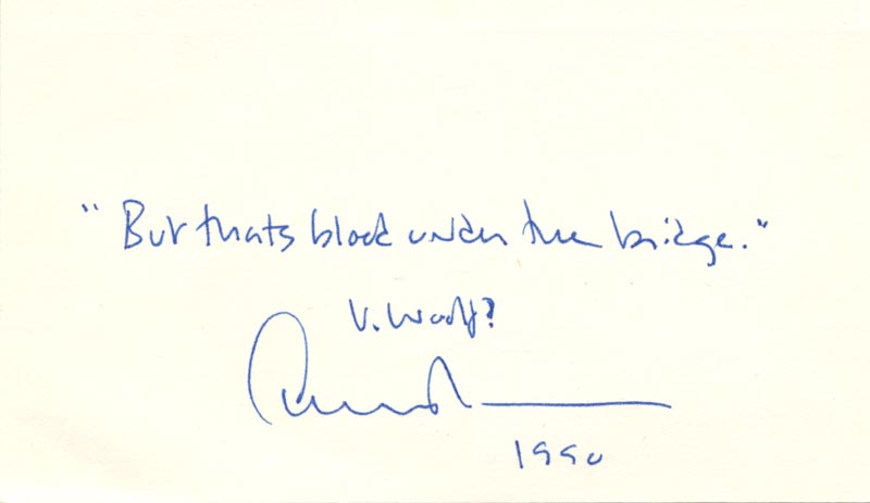 Image 1 for Edward Albee - Autograph Quotation Signed Circa 1990 - HFSID 176688