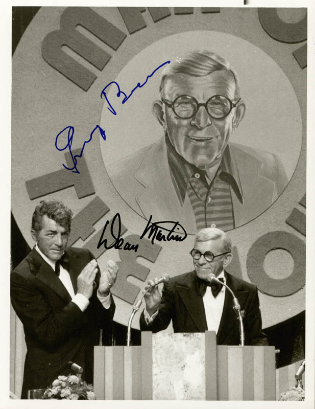 Image 1 for George Burns - Autographed Signed Photograph co-signed by: Dean Martin - HFSID 176897