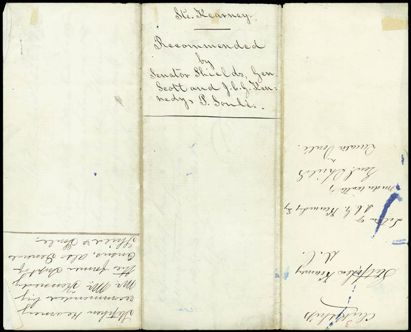 Image 4 for Brigadier General James Shields - Autograph Letter Signed 03/22/1853 co-signed by: Pierre Soule, J. C. G. Kennedy - HFSID 177243