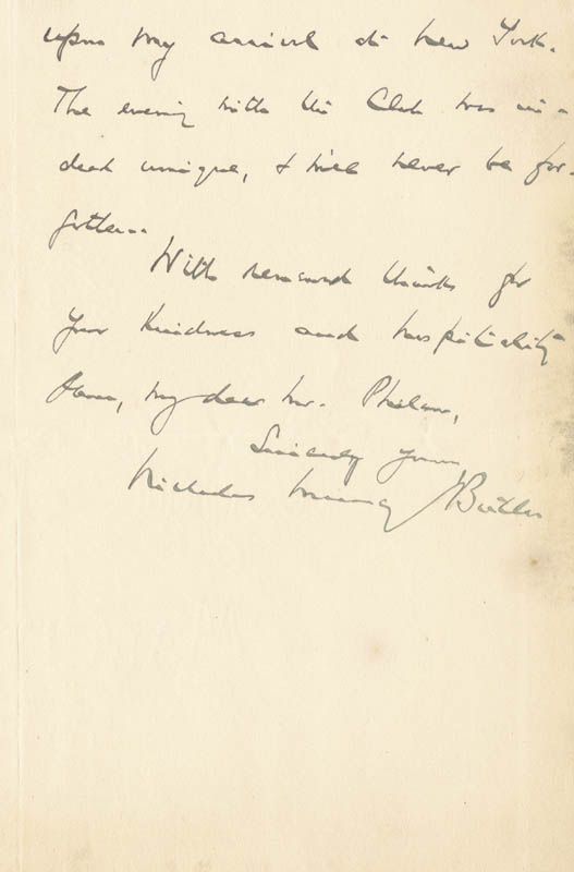 Image 1 for Nicholas Murray Butler - Autograph Letter Signed 05/14/1903 - HFSID 17741