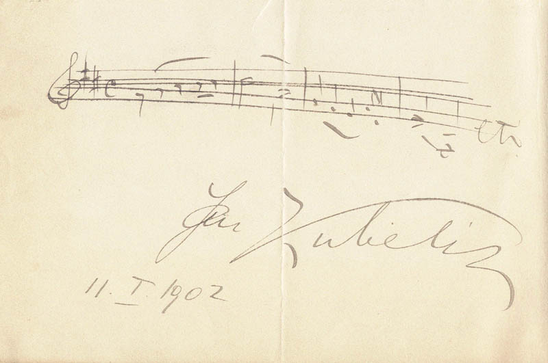 Image 1 for Jan Kubelik - Autograph Musical Quotation Signed 01/11/1902 - HFSID 177411
