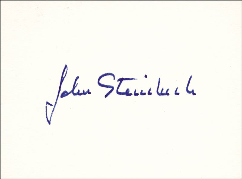 Image 1 for John Steinbeck - Autograph - HFSID 177471