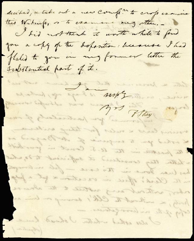 Image 1 for Francis Scott Key - Autograph Letter Signed 01/18/1838 - HFSID 177623