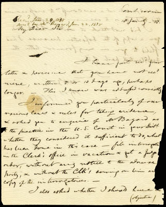 Image 3 for Francis Scott Key - Autograph Letter Signed 01/18/1838 - HFSID 177623