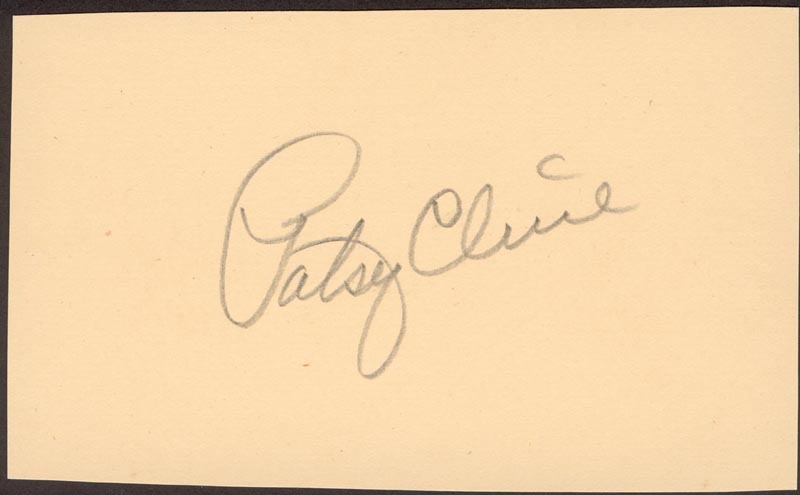 Image 1 for Patsy Cline - Autograph - HFSID 177908