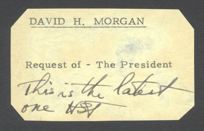 Image 1 for President Harry S Truman - Autograph Note Signed - HFSID 177911