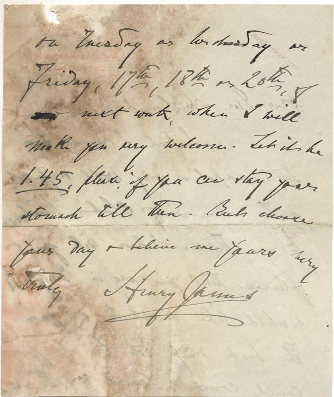Image 1 for Henry James - Autograph Letter Signed 06/1913 - HFSID 177933