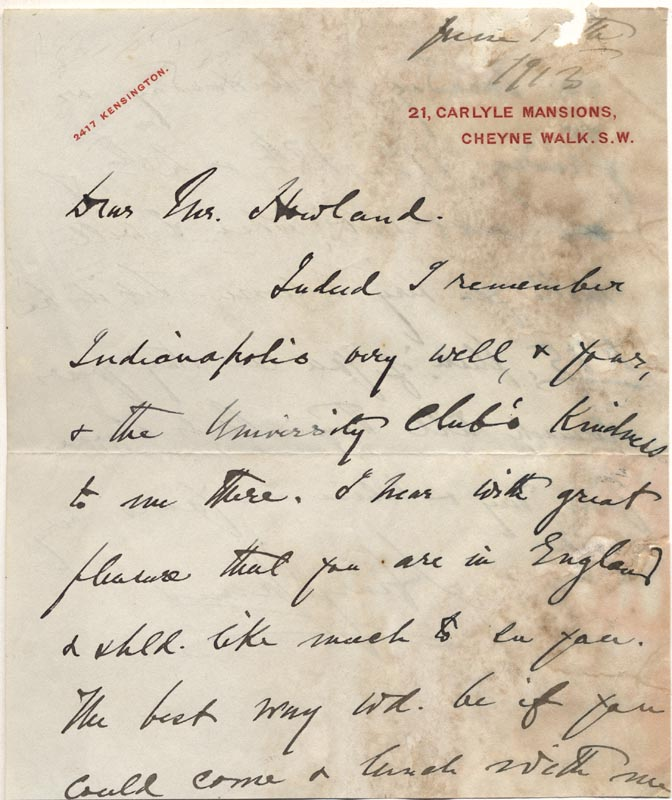 Image 3 for Henry James - Autograph Letter Signed 06/1913 - HFSID 177933