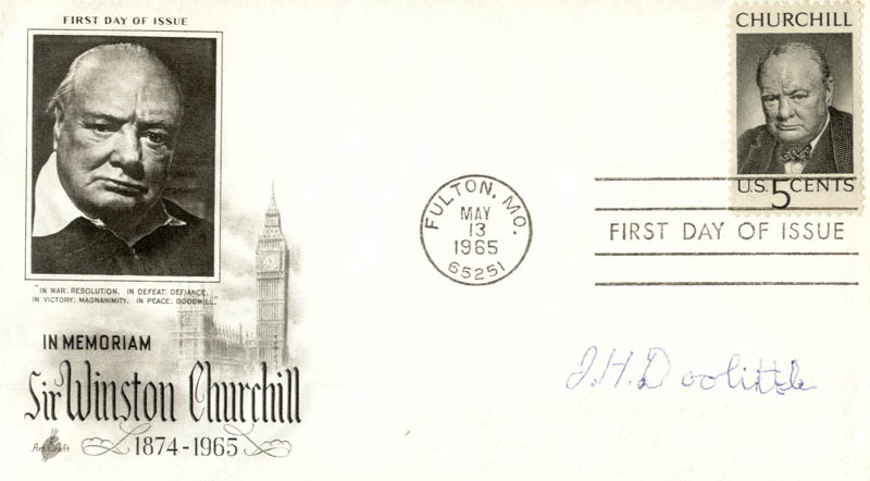 Image 1 for Brigadier General James H. 'Jimmy' Doolittle - First Day Cover Signed - HFSID 177953