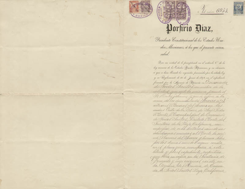 Image 3 for President Porfirio Diaz (Mexico) - Document Signed 10/27/1897 with co-signers - HFSID 178029