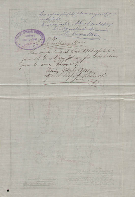 Image 5 for President Porfirio Diaz (Mexico) - Document Signed 10/27/1897 with co-signers - HFSID 178029