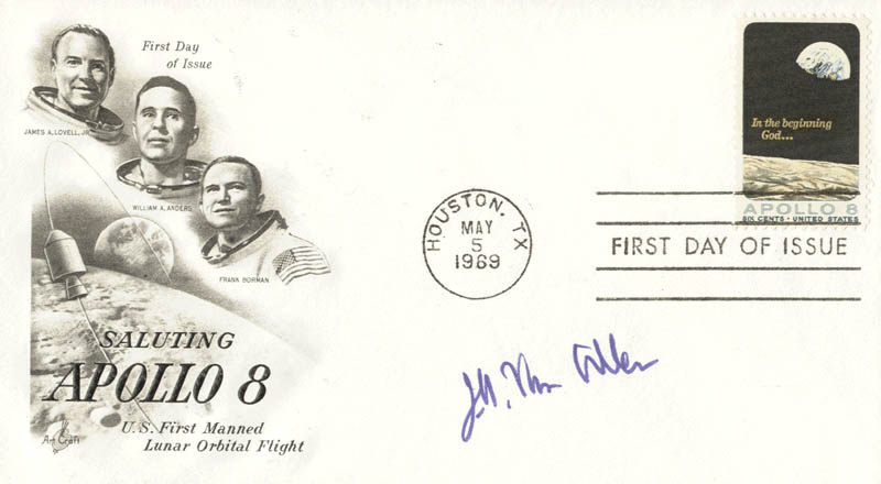 Image 1 for James A. Van Allen - First Day Cover Signed - HFSID 178073