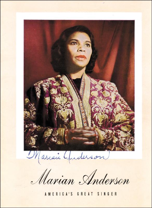 Image 1 for Marian Anderson - Magazine Signed co-signed by: Franz Rupp - HFSID 178106