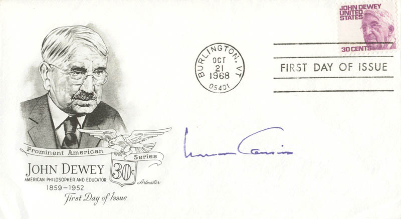 Norman Cousins First Day Cover Signed Autographs Manuscripts