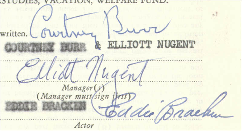Image 3 for Eddie Bracken - Contract Multi-signed 07/02/1953 - HFSID 178214