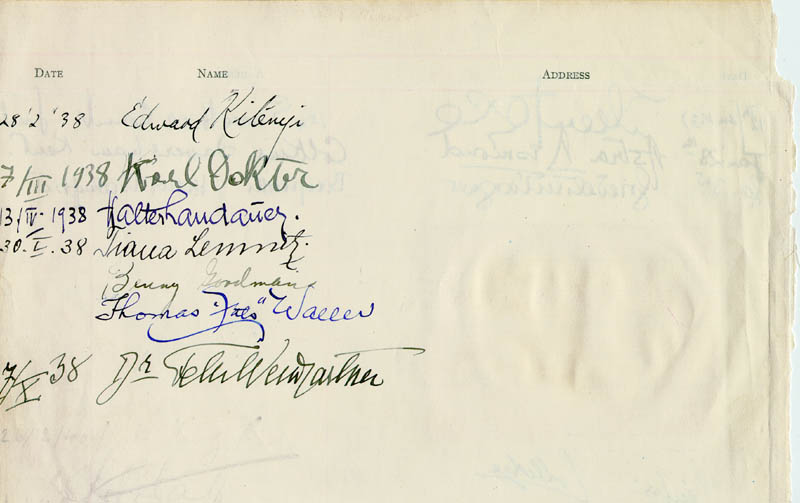Image 1 for Fats (Thomas) Waller - Autograph 01/30/1938 co-signed by: Benny Goodman, Eileen Joyce, Walter Landauer, Astra Desmond - HFSID 178305