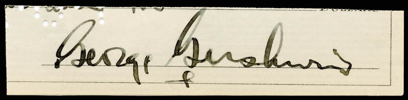 Image 1 for George Gershwin - Autograph - HFSID 178330