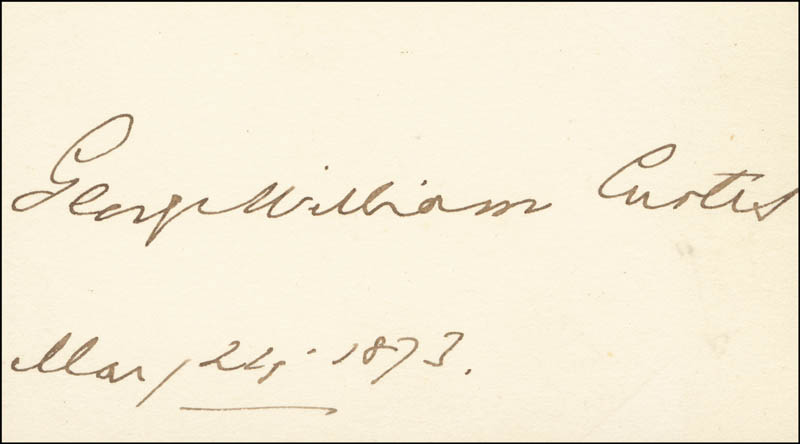Image 1 for George William Curtis - Autograph 03/24/1873 - HFSID 17834