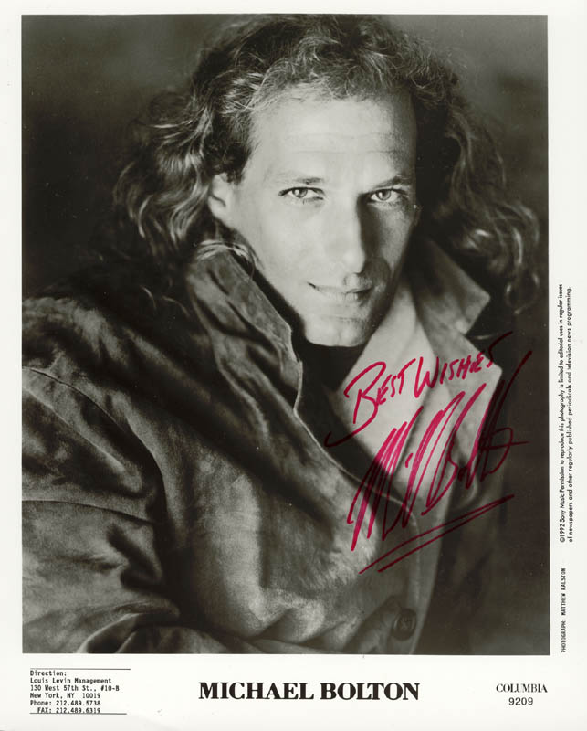 Image 1 for Michael Bolton - Autographed Signed Photograph - HFSID 178459