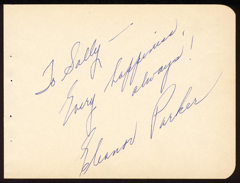 Image 1 for Eleanor Parker - Autograph Note Signed - HFSID 178615