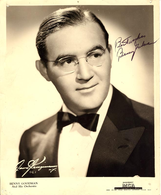 Image 1 for Benny Goodman - Autographed Signed Photograph - HFSID 178618