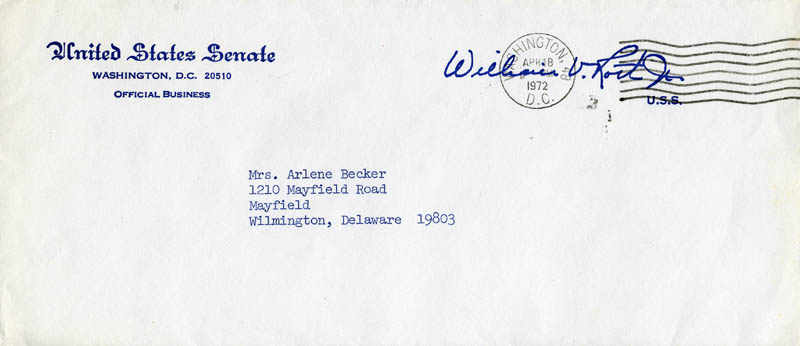 Image 3 for William Victor Roth Jr. - Typed Letter Signed 04/07/1972 - HFSID 178702