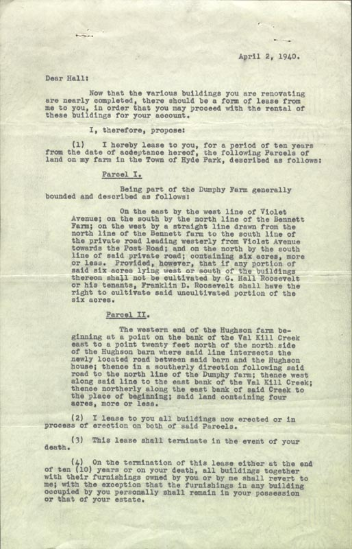 Image 3 for President Franklin D. Roosevelt - Document Signed 04/02/1940 - HFSID 178833