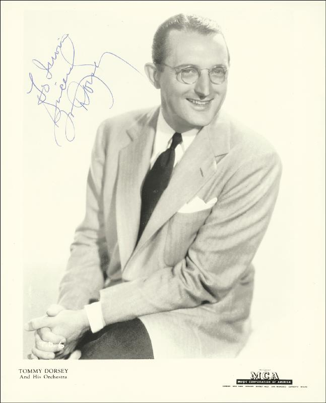 Image 1 for Tommy Dorsey - Autographed Inscribed Photograph - HFSID 178856