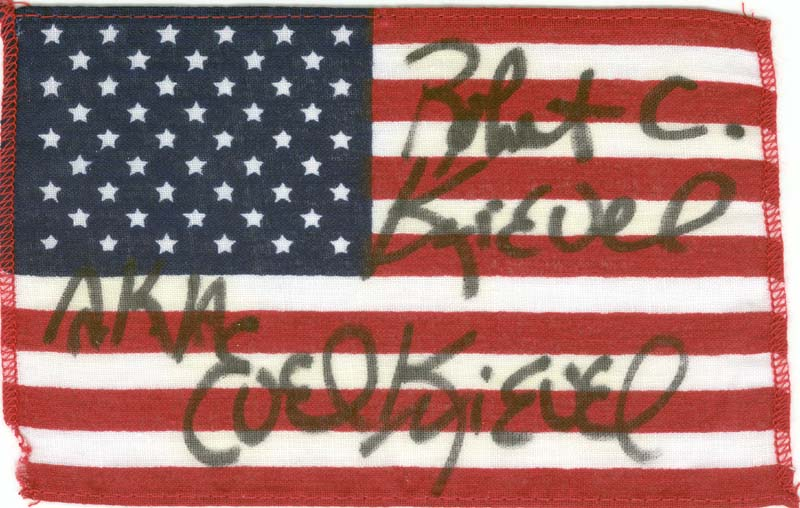 Image 1 for Evel Knievel - Flag Signed - HFSID 178867