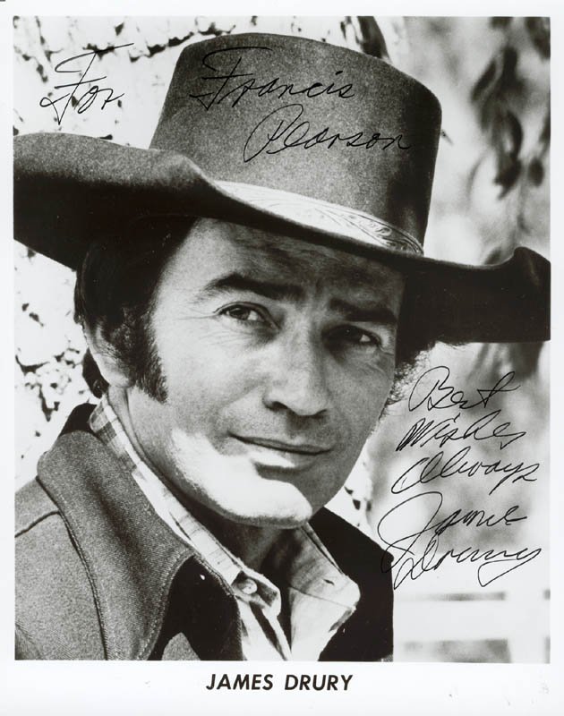 Image 1 for James Drury - Autographed Inscribed Photograph - HFSID 179063