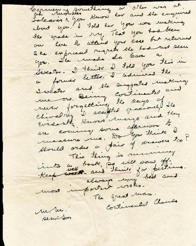 Image 1 for W. C. Fields - Autograph Letter Signed - HFSID 179355