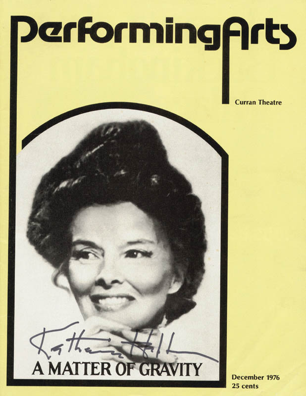 Image 1 for Katharine Hepburn - Show Bill Signed Circa 1976 - HFSID 179490
